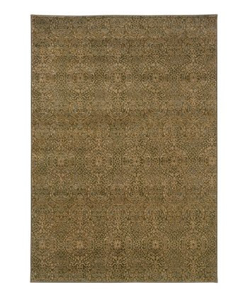 Beige & Green Intermezzo Rug
