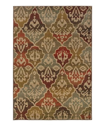 Green & Orange Intermezzo Rug