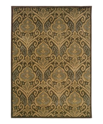 Green Scroll Intermezzo Rug