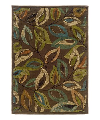 Brown Leaves Elliot Rug