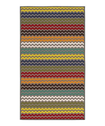 zulily-Exclusive Gray Zigzag Rug