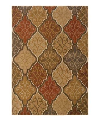 Orange Diamond Swirl Citadel Rug
