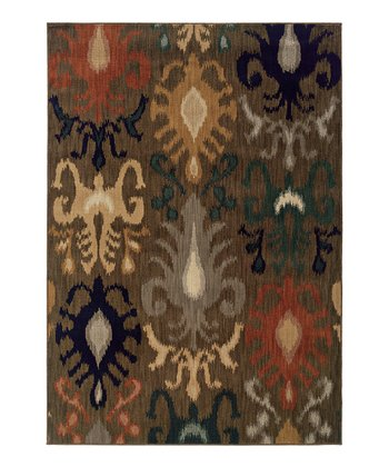 Brown Modern Flourish Citadel Rug