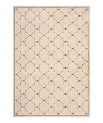 Beige Romantic Lattice Servaline Rug