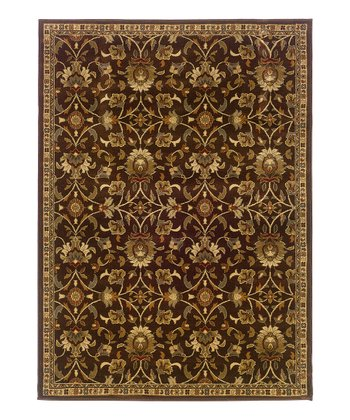 Brown Paisley Rug