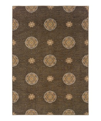 Brown Circles Rug