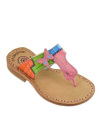 Pink Butterfly Kenya Leather Sandal