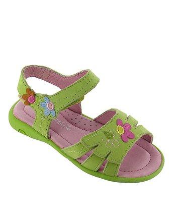 Lime Floral Destiny Leather Sandal