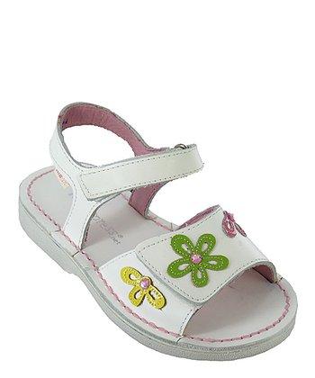 White Sharpay Leather Sandal
