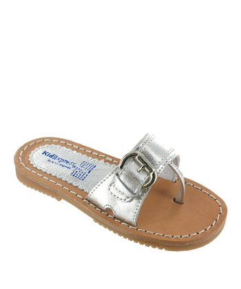 Silver Metallic Jamile Leather Sandal