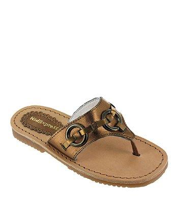 Bronze Metallic Indiana Leather Sandal