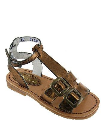 Bronze Metallic Elsa Leather Gladiator Sandal