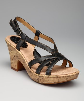 Black Charity Sandal