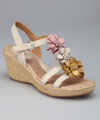 Pearly Damita T-Strap Wedge