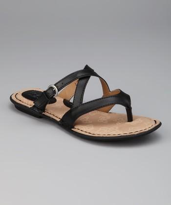 Black Gillis Thong Sandal