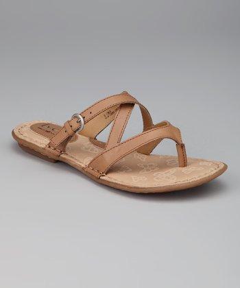 Natural Gillis Thong Sandal