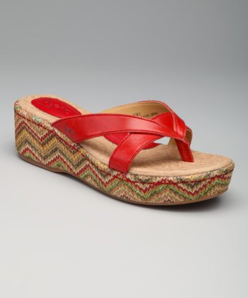 Raise Red Hanley Sandal