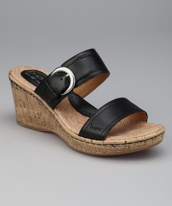 Black Lizandra Wedge Slide