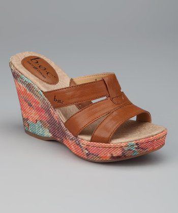Saddle Floral Sabelle Wedge Slide