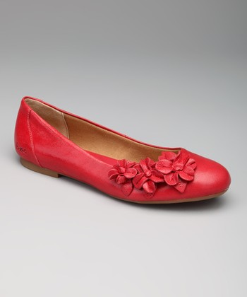 Cherry Red Shailene Flat