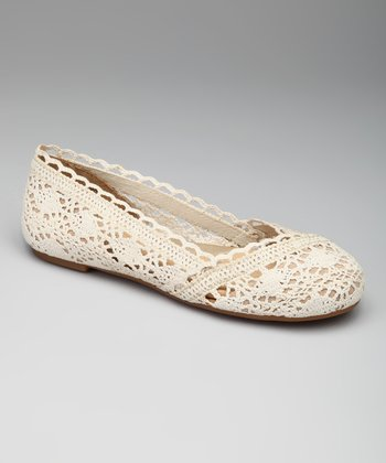 Natural Crochet Sindy Ballet Flat