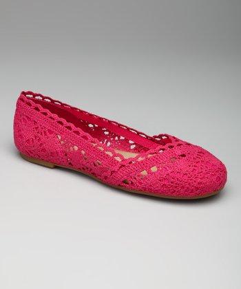 Pink Crocheted Sindy Ballet Flat