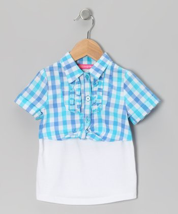 Blue Plaid Layered Top - Infant & Toddler