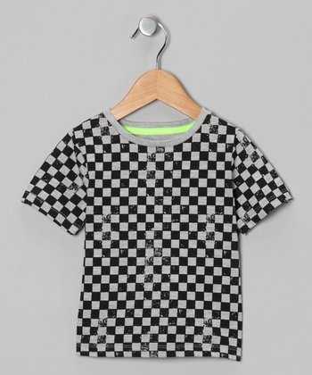 Gray & Black Checkerboard Tee - Infant
