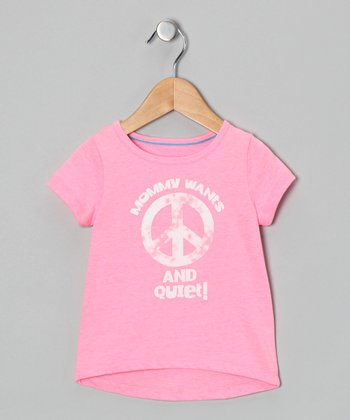 Light Pink Peace & Quiet Tee - Infant