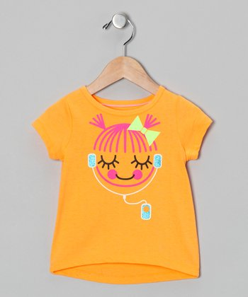 Orange Music Girl Tee - Infant
