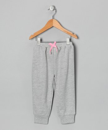 Heather Gray Acid Wash French Terry Pants - Infant
