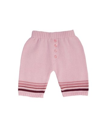 Pale Pink Stripe Knit Pants