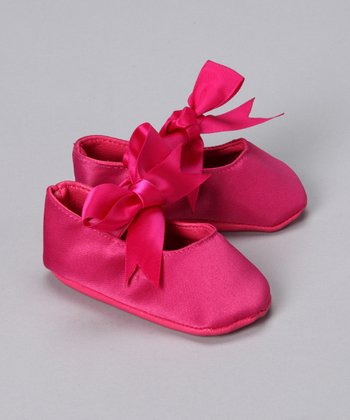 Hot Pink Satin Ballet Slippers