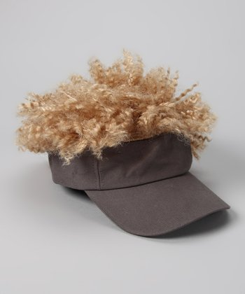 Gray & Blonde Afro Visor - Kids