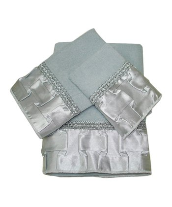 Gray Basketweave Towel Set
