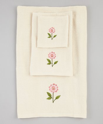 Beige Bella Towel Set