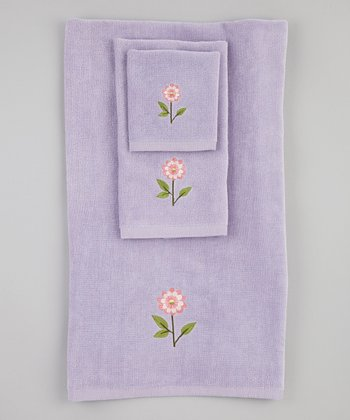 Lilac Bella Towel Set