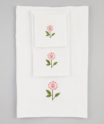 White Bella Towel Set