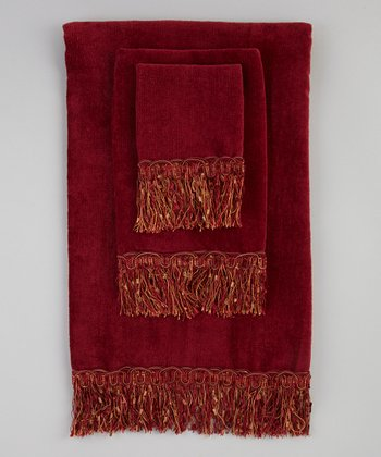 Burgundy Bordeaux Towel Set