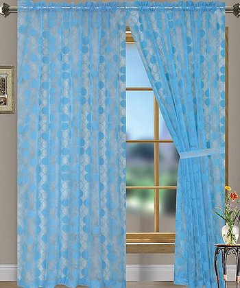 Aqua Eclipse Curtain Panel - Set of Two