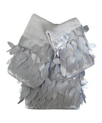 Silver Flutter Towel Set