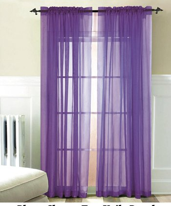 Purple Karrina Curtain Panel - Set of Two