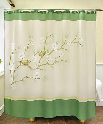 Magnolia Shower Curtain & Hook Set