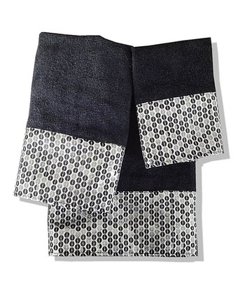 Black Moonlight Towel Set