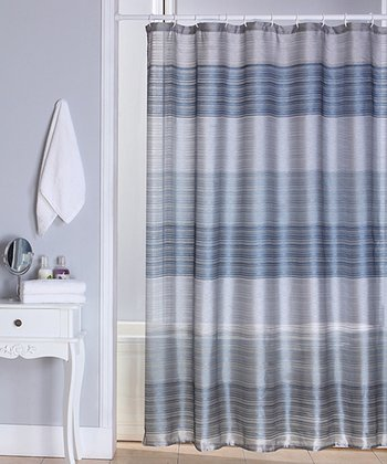 Blue Ombré Jewel Shower Curtain