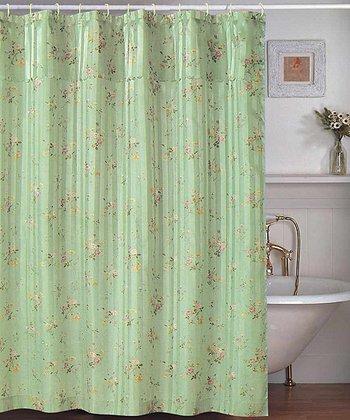 Sage Penny Shower Curtain