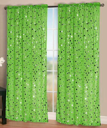 Lime Rock It Curtain Panel - Set of Two