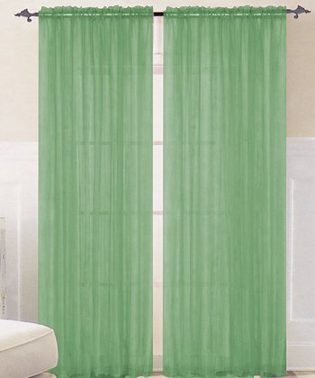 Bright Lime Sparkle Curtain Panel - Set of Two