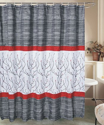 Black & Red Sutton Shower Curtain