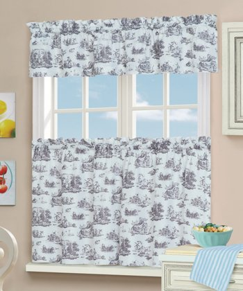 Toile Tier Curtain & Valance